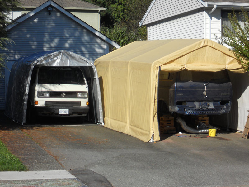 Small Car Shelter : Car shelters for westys edbee s syncro and studebaker